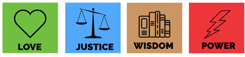 The Life Themes: Love Justice Wisdom Power